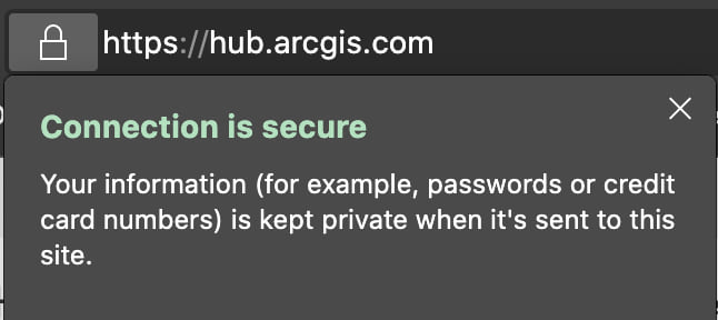 Hub secure connection