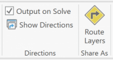 VRP Ribbon Directions section and Share As section