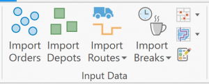 Input Data section of the VRP Ribbon