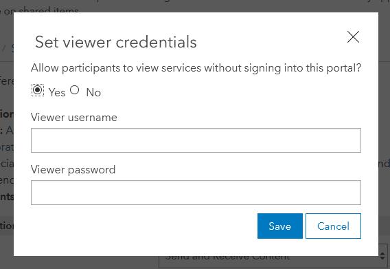 Set viewer credentials