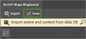 The Draw button on the Mapboards window
