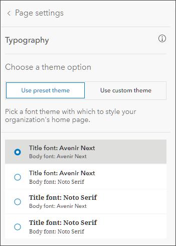 Choose font theme