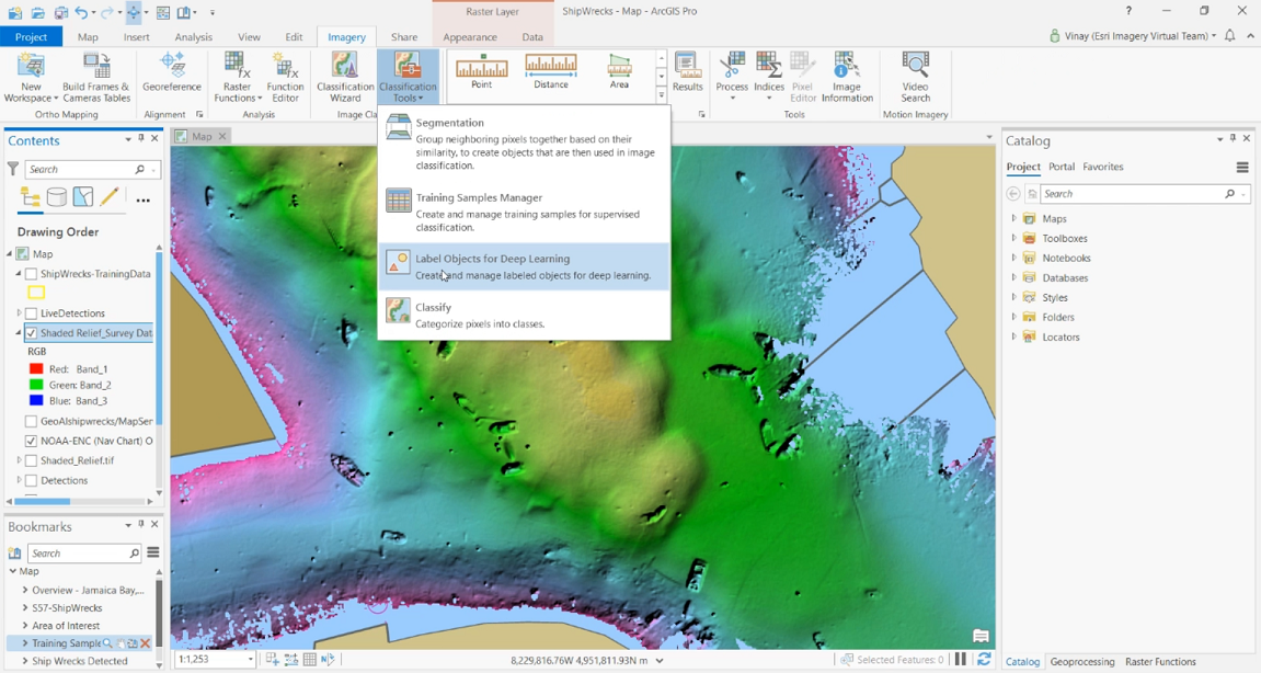 Label Objects for Deep Learning tool in ArcGIS Pro.