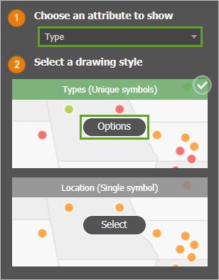The Options button for Types (Unique symbols)