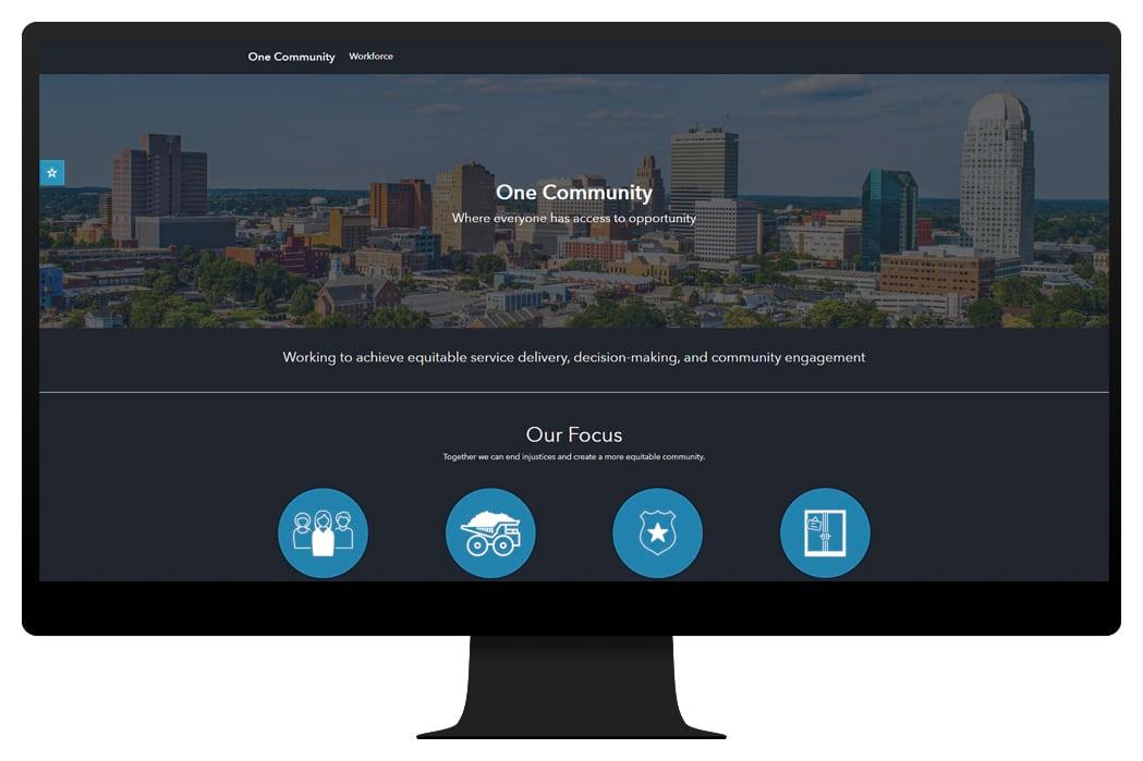 Graphic image of community website
