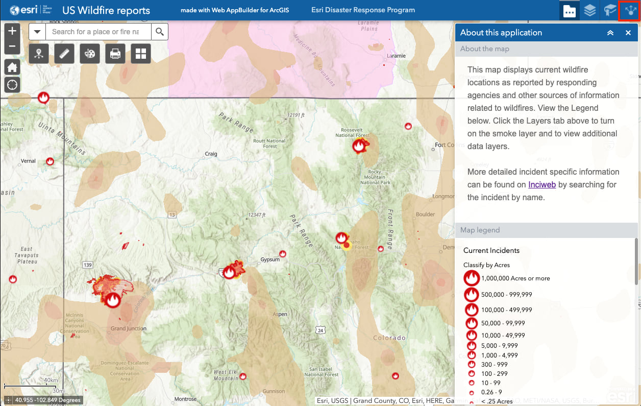 Us Wildfire Activity Public Information Map New Wildfire and Weather Map for Public Information
