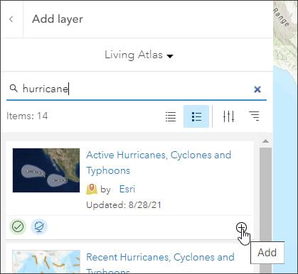 Living Atlas search
