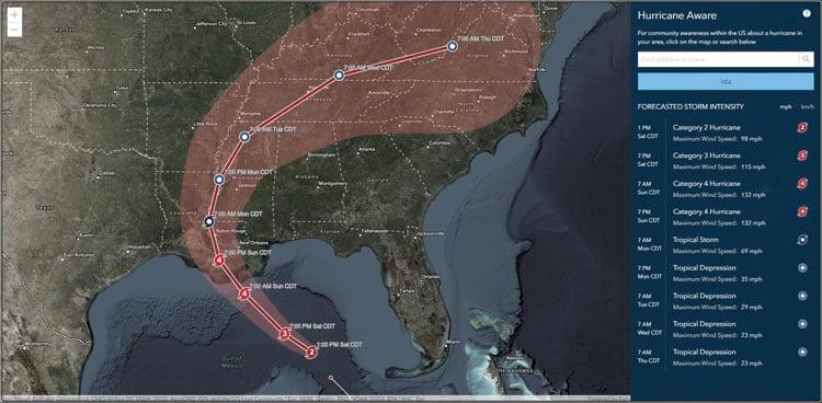 Hurricane Aware app