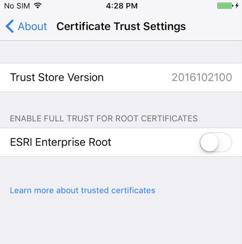 Trust Settings