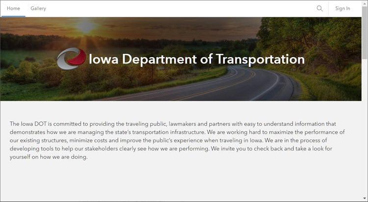 Iowa DOT home
