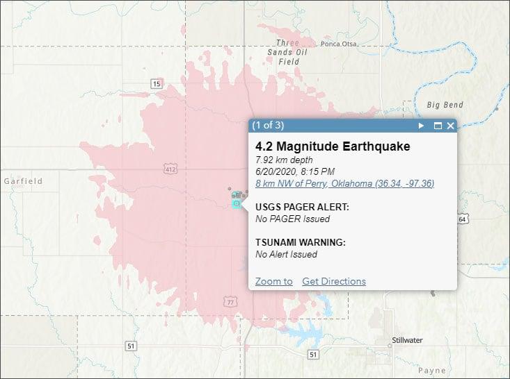 Earthquake event