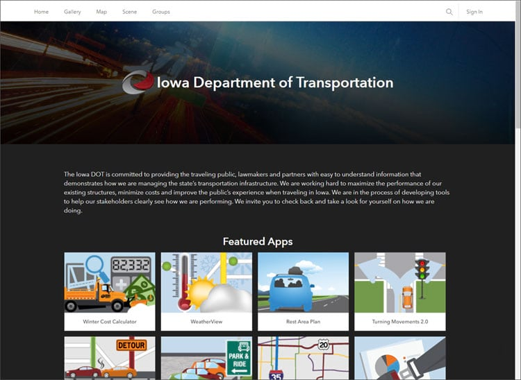 Iowa DOT home