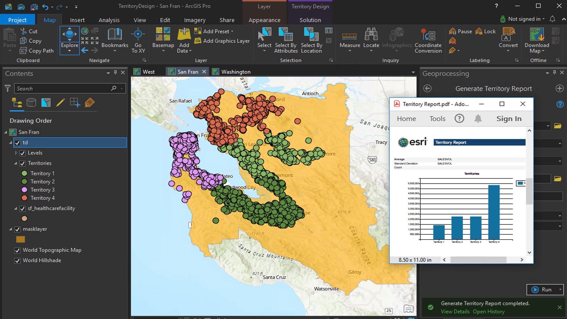 Territory Design toolset