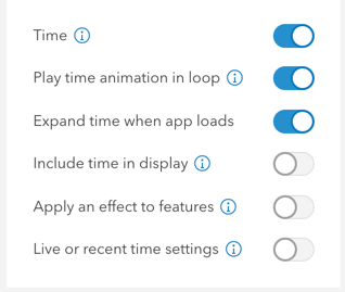 Time slider settings in app