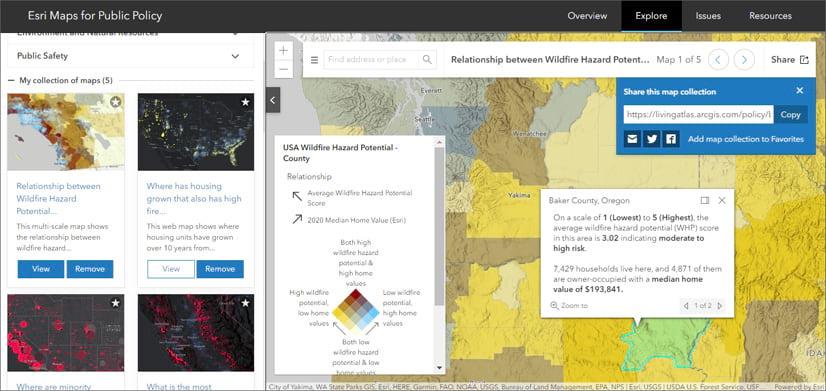 Esri Maps for Public Policy