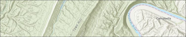 Topographic with contours