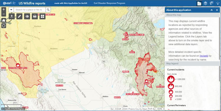 Wildfire Public Information Map