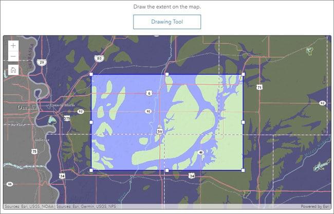Set map extent