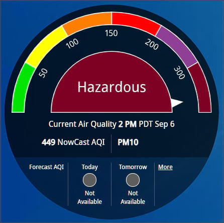 Hazardous air quality