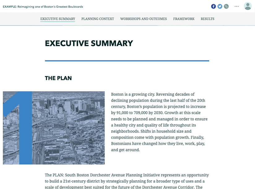The executive summary of the project.