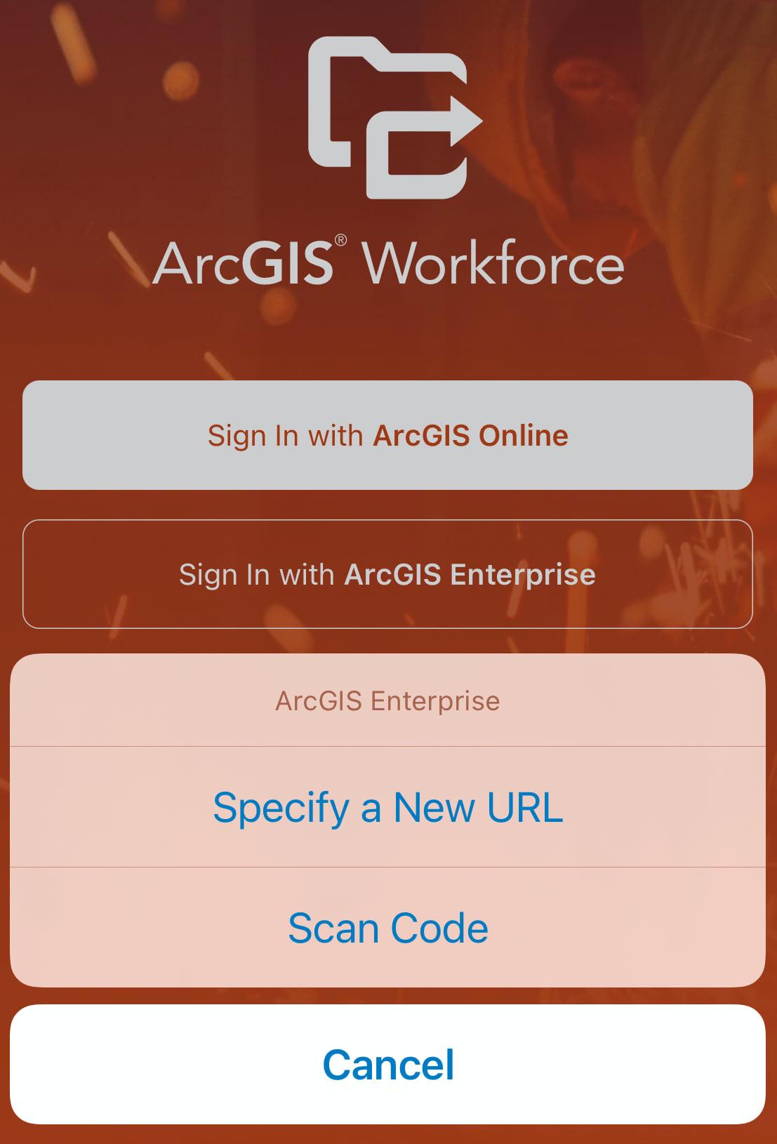 Sign into ArcGIS Enterprise