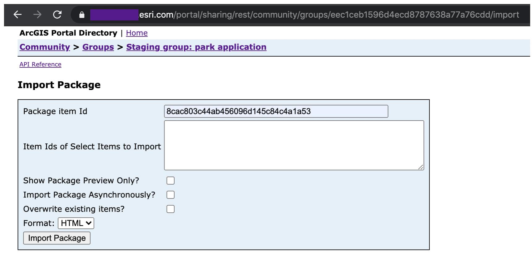 REST API for Import