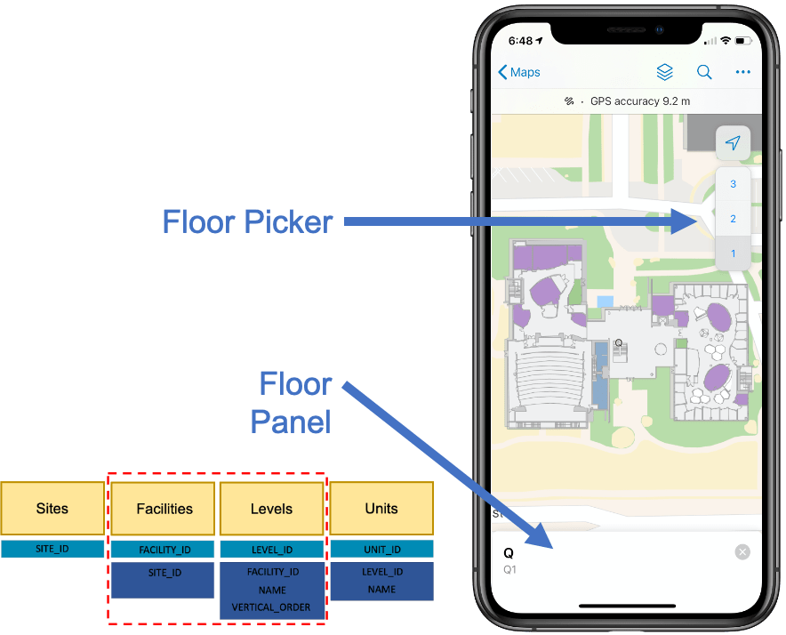 ArcGIS Field Maps supports working indoors