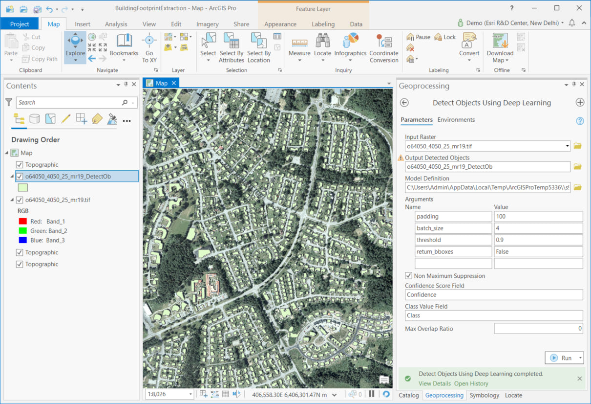 Using the model in ArcGIS Pro