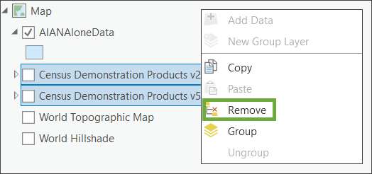 Remove layers from Contents