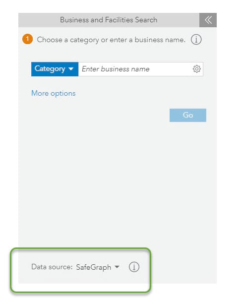 Business and Facilities Search with SafeGraph data source