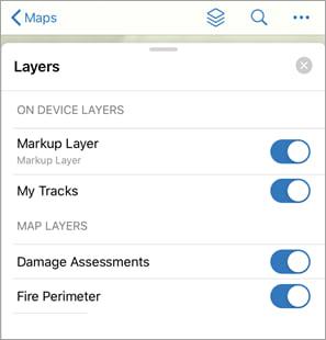 Layers menu