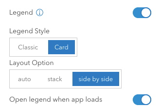 Legend settings in configuration panel