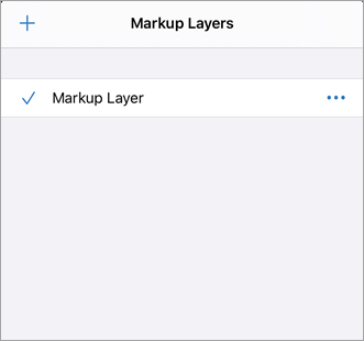 Markup layers menu