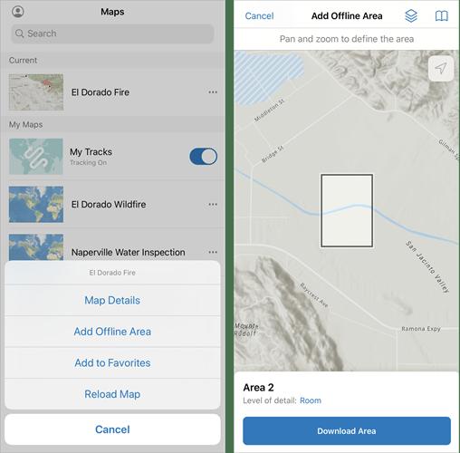 Add an offline map area