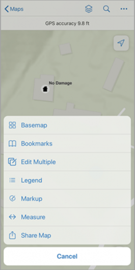 Field Maps overflow menu