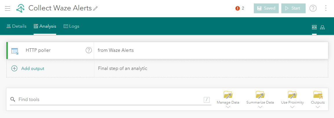 ArcGIS Velocity real-time analytic Waze