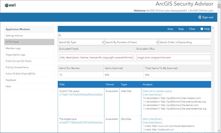 ArcGIS Security Advisor