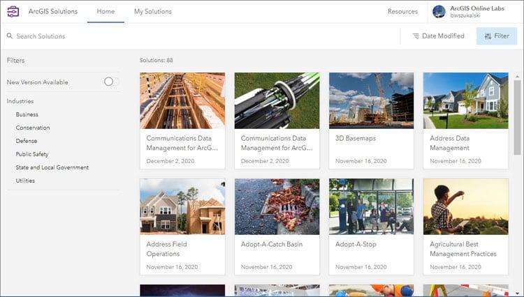 ArcGIS Solutions app
