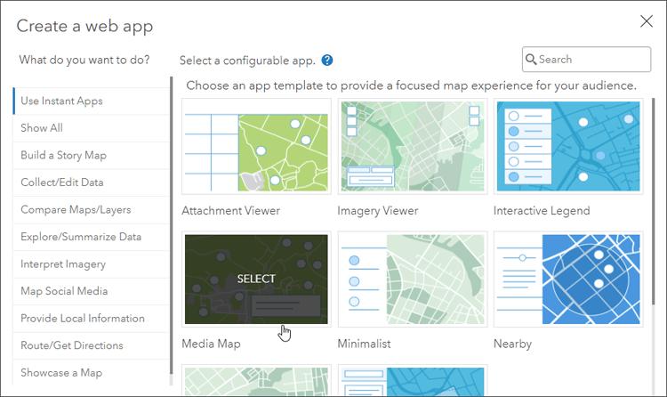 Select Media Map