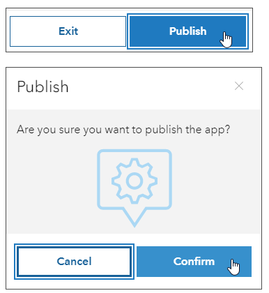 Publish and confirm