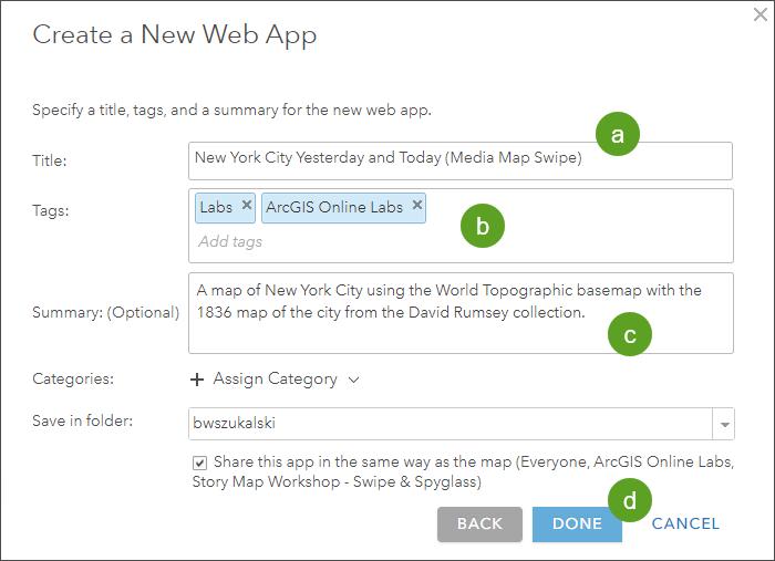 Create a new web app