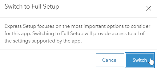 Switch to full setup