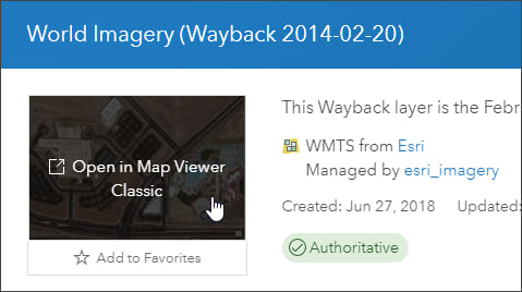 Open in Map Viewer Classic