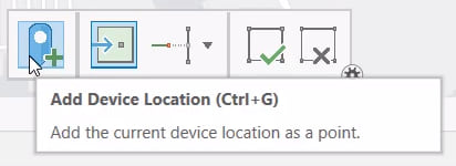 Add Device Location button