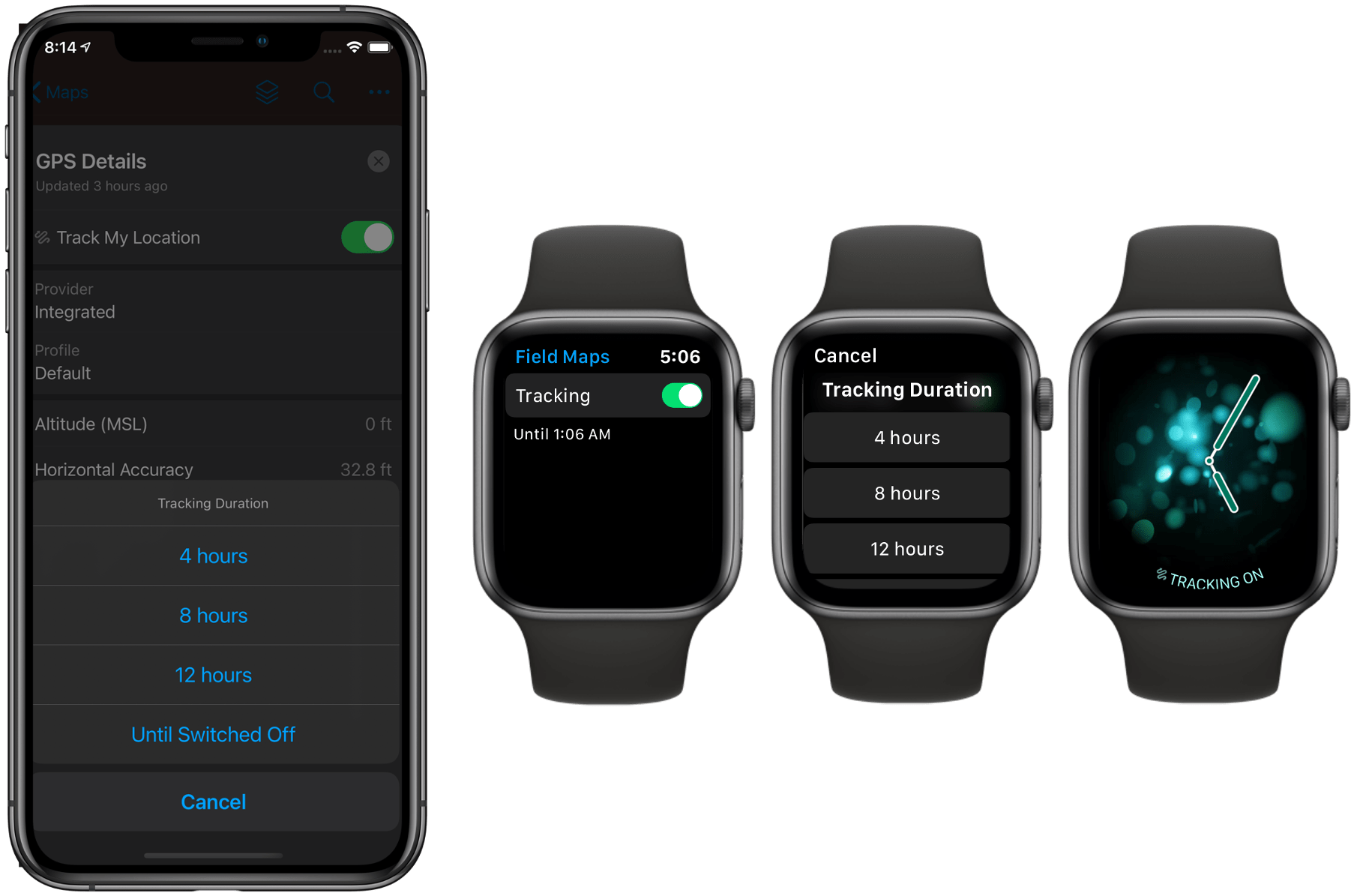 Apple Watch support for tracking