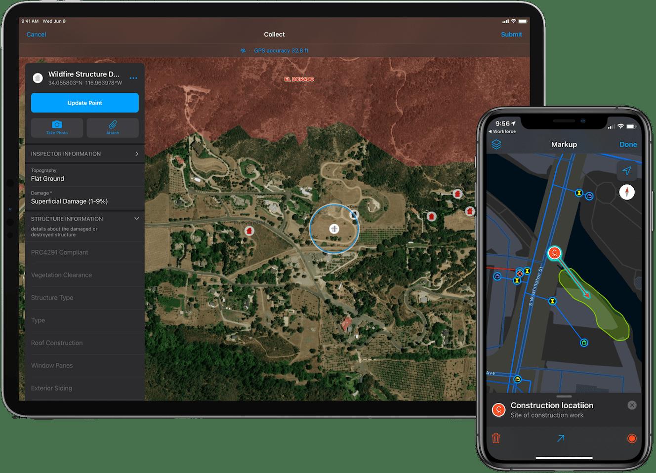 ArcGIS Field Maps supports Dark Mode