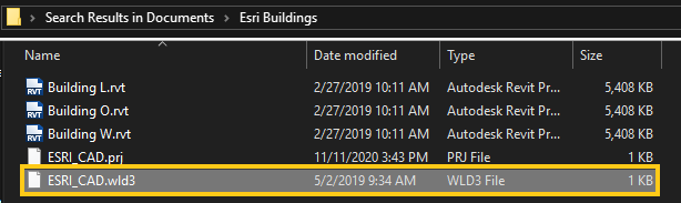 ESRI_CAD saved georeference