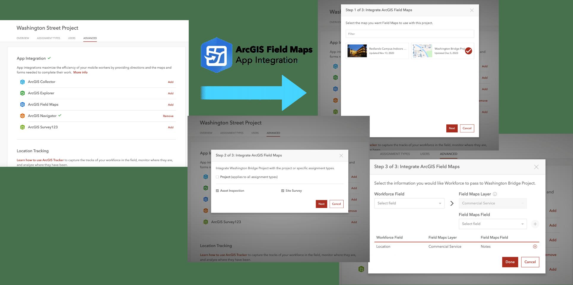 Adding ArcGIS Field Maps integration