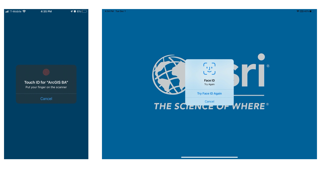 Biometric screens