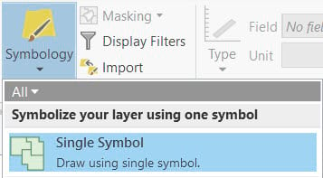 Vary symbol by attribute window in ArcGIS Pro.